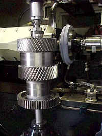 Ground Double Helical Gear Close-Up